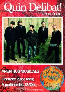 Poster del concert en acústic a Can Jordi