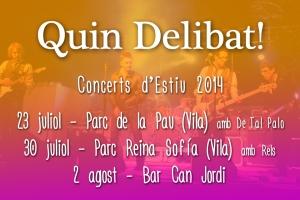 Concerts d'estiu Quin Delibat!